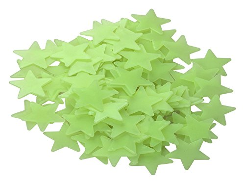 Dealglad 100PCS 3cm Green Home Wall Ceiling Glow In The Dark Stars Stickers Decal Baby Kids Bedroom Decor