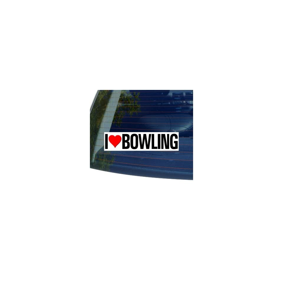 I Love Heart BOWLING   Window Bumper Sticker