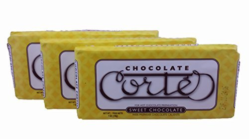 Cortes Sweet Chocolate for Hot Chocolate 7 Ounces 3 Pack Bundle (Caribe Cocoa)