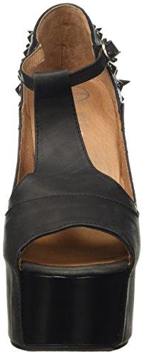 zapatos Mujer de punta Foxy Spike tacón Campbell Negro Jeffrey con abierta CwgqT4fCx