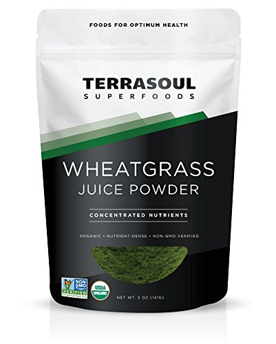 Powder Barley Usa Juice Grass - Terrasoul Superfoods Organic Wheat Grass Juice Powder, 5 Ounces - USA Grown - Made from concentrated juice