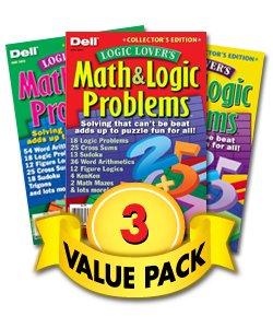 Logic Lover's Math & Logic Problems-3 Pack