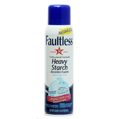 Faultless Professional Formula Original Fresh Scent Heavy Starch Two 20 Ounce Containers Included by Faultless
