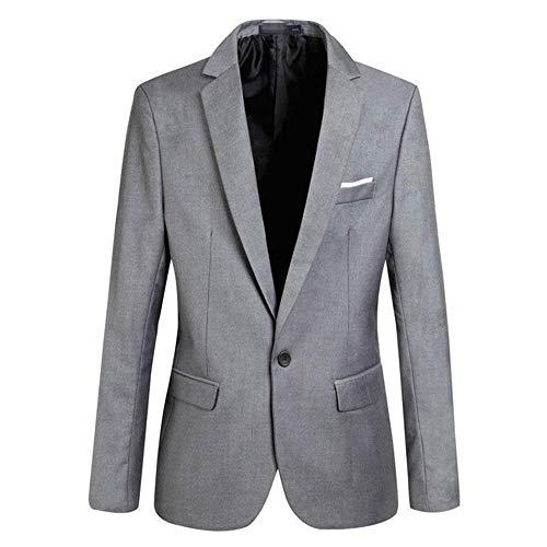 Giacca Business Abito Da Blazer Mieuid Sposa 1 Chic Uomo Grau Bottone Fit Slim Tuxedo 5XPPTq