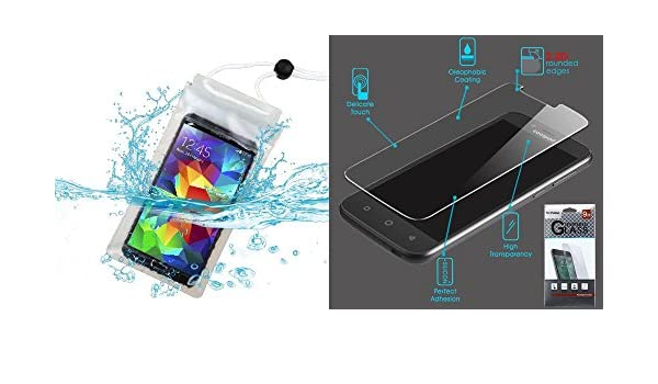 Combo Pack – Universal T-CLEAR resistente al agua bolsa (con cordón) (171) (no Package) para Apple Iphone 6s/6 LG D725 (G3 Mini) LG VS880 (G Vista) ZTE Z777 (Grand X) Alcatel 7030Y (