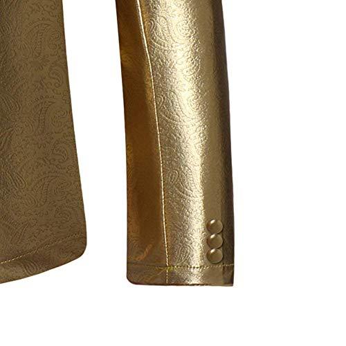 Business Color Sólido Navidad Traje Marca 48 54 Leisure Clásico Túnica Fit Chaqueta Abrigos Oro Moda Slim Corto Mode Festivo Peluda De Hombres Tuxedo Blazer Abrigo xqO68Fw