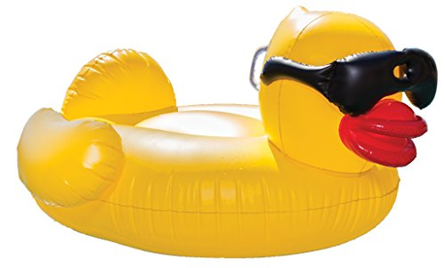 GAME Inflatable Derby Duck (Large) Pool Float, Yellow