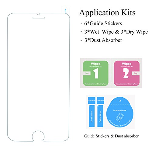 Large Product Image of Ailun Screen Protector Compatible with iPhone 8 Plus 7 Plus,[5.5inch][3Pack],2.5D Edge Tempered Glass Compatible with iPhone 8 Plus,7 Plus,Anti-Scratch,Case Friendly,Siania Retail Package