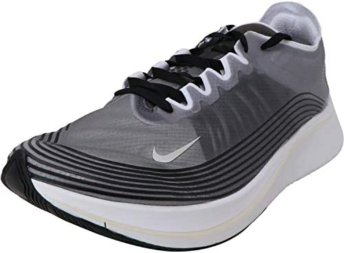 Nike Mens Zoom Fly SP Running Shoes 12 D M US , Black Light Bone White