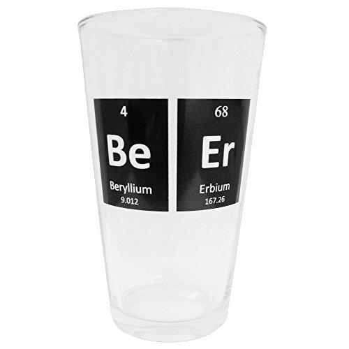 Smart Mugs Periodic Beer Glass, 1 Pint Size, Beer Mug Glassware for Bars, Kitchen & (Stella Bar Table)