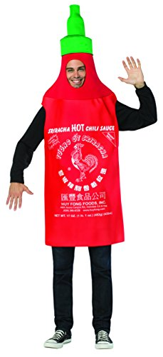 Food And Drink Halloween Costumes (Rasta Imposta Men's Sriracha Tunic, Red, One Size)