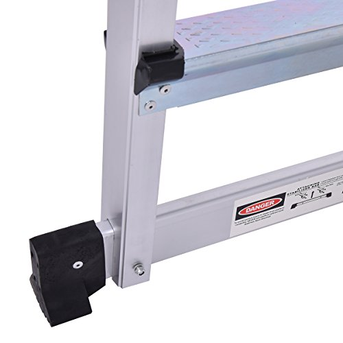 Giantex Aluminum Platform Non-Slip Folding Work Bench Drywall Stool Ladder 330lbs Capacity by Giantex (Image #7)