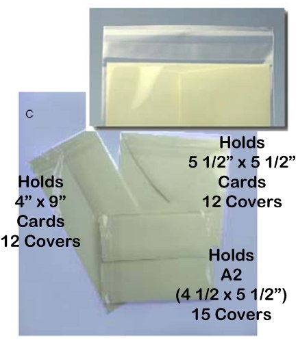 Judikins 15 Crystal Clear Card Covers A2 (4 1/2 x 5 1/2 Card Size) Showcase Your Creations