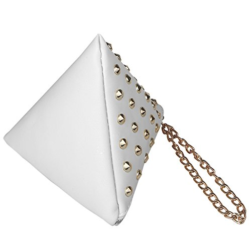 xhorizon TM SR Women PU Leather Rivet Studded Triangle Purse Wristlet Clutch Wallet Handbag by xhorizon (Image #1)