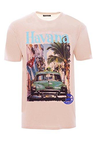 Brave Soul - Camiseta - camisa - Básico - Clásico - para hombre Summer Pink