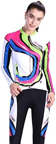 サイクルジャージ ジャージ通気性快適に乗って春、夏、秋の長袖ジャージーの女性のシャツスーツ 吸汗速乾高通気 (色 : A1, サイズ : S)
