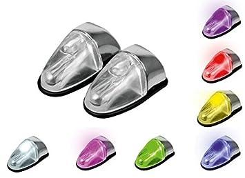 Lote de 2 aspersores de limpiaparabrisas universales LED, 7 colores, 12 V: Amazon.es: Deportes y aire libre