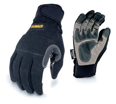 DEWALT Radians DPG217M Work Gloves, Synthetic Leather Palm, Black, M - Quantity 6