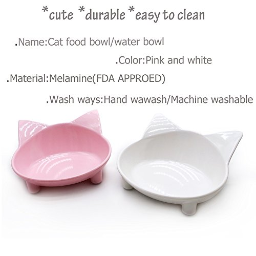Buy raised cat bowls prevent whisker fatigue