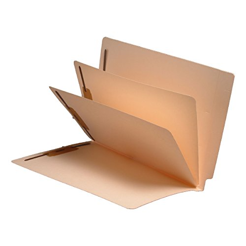 Hot 14 Pt. Manila Folders, Full Cut End Tab, Letter Size, 2 Dividers Installed (Box of 25) for cheap