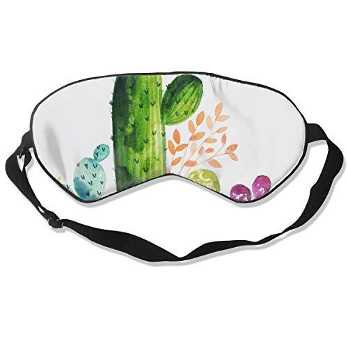 (Eye Mask Watercolor Cactus Hand Painted Designer Eyeshade Sleep Mask Soft for Sleeping Travel for Girls)