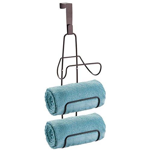 mDesign Over Door Towel Holder Bathroom