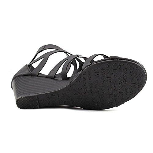 Strap XOXO Toe Sarabeth Open Ankle Womens Sandals Black Casual fYn6q7w