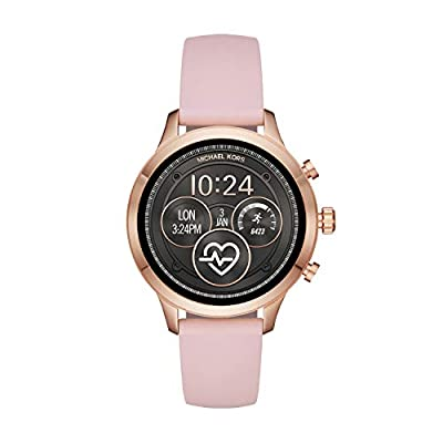 Michael Kors Women's Access Runway Stainless Steel Silicone Smart Watch, Color: Rose gold-tone (Model: MKT5048) by Michael Kors Connected Watches Child Code