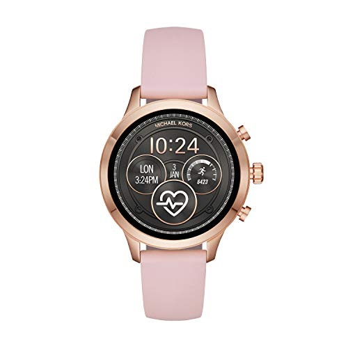 Michael Kors Women's Access Runway Stainless Steel Silicone Smart Watch, Color: Rose gold-tone (Model: MKT5048)