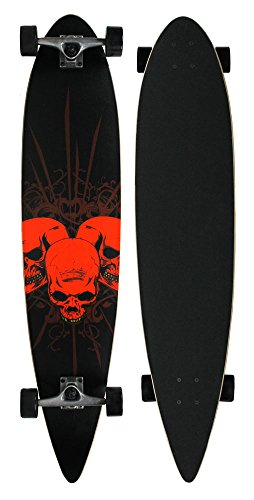 - Krown 3 Amigos Pintail Complete Longboard, 9x43-Inch