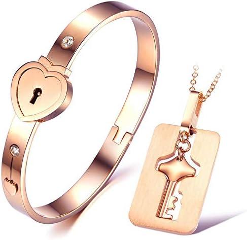 [해외]【 Pmj 】 페 アアクセサリ? 쌍 쌍 목걸이 팔찌 유저의 LOVE 스테인레스 스틸 하트 크로스 체인 골드 【 선물 】 / 【pmj】Pea Accessory Pair Necklace Pair Bracelet Key Pair LOVE Stainless Steel Heart Cross Chain Gold [Perfect for Gif