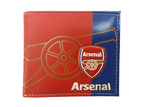 "Aachpp Arsenal Mens PU Wallet Football Soccer Club Faux Leather PVC Womens Purse Billfold 5 Card Slots (Arsenal, 4.33"" X 3.54""inch)"