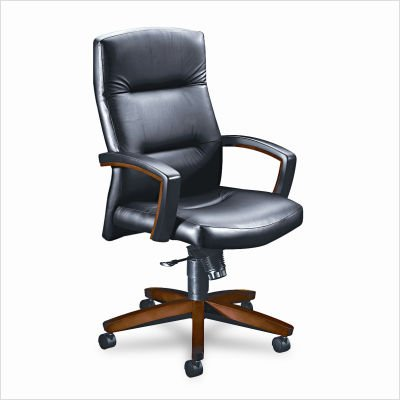 HON 5001JEE11 5000 Series Executive High-Back Swivel and Tilt Chair, Black Vinyl/Henna ()