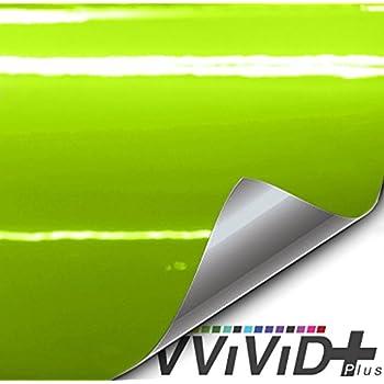 VViViD+ Premium Vinyl Wrap Film (1ft x 5ft, Gloss Viper Lime Green)