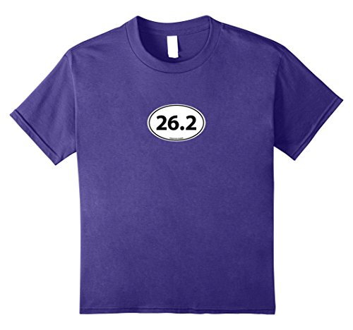 Marathon 26.2 Oval Runner (Kids Marathon 26.2 Euro Oval Endurance Runner T-shirt 8 Purple)