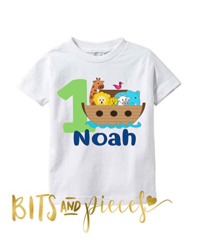 - Personalized Boys First (1st) Birthday Bodysuit or Shirt - Can be any age - Safari Birthday - Animal Birthday Active ()