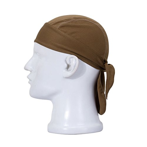 Sunward Outdoor Cycling Pirate Hat Quick-dry Rag Skull Cap Sports Dance Headwear (Pirate Headwear)