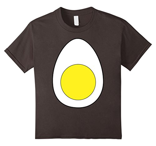 Bacon And Egg Costume Diy (Kids Deviled Egg Fried Egg Halloween Costume T-shirt 10 Asphalt)