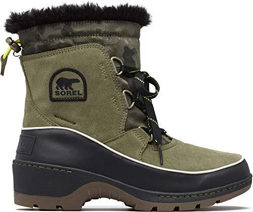 Sorel Women's Tivoli III Premium Non Shell Boot (11 M US, Hiker Green/Black Suede/Textile Combination)