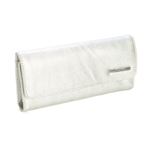 Kenneth Cole Reaction Patent Silver Tri Me A River Wallet, Bags Central