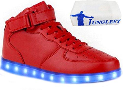 (Present:kleines Handtuch)JUNGLEST® Kinder Jungen Mädchen LED Schuhe Leuchtend Sneaker Farbwechsel Fluorescence Turnschuhe Sportsschu c9