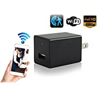 Hidden Security Camera Wall Charger - Cutting-Edge Nanny Camera USB Security Camera Supports 128GB SD Memory Card - Superior Motion Detection, 1080P HD Resolution, 9712 Lens & Wi-Fi Remote Viewing