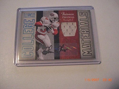 - Thurman Thomas 09 National Treasures Game Used Jersey Auto 5/10 Signed Card - Football Game Used Cards