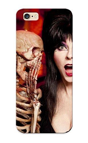 New Style Summerlemond Hard Case Cover For Iphone 6 Plus- Elvira Tv Series Show Dark Horror Skeleton Skull Women Actress Models Brunees Sexy Babes Boobs Cleavage Halloween Humor Face Eyes Pov