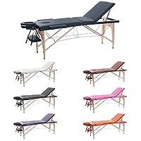 H-ROOT 3 Sezione Tavolo da Massaggio Leggera Large Deluxe Lettino da Massaggio Portatile Terapia Tatoo Salon Reiki Healing Massaggio Svedese (186cm x 60cm x 62-83cm, Blu navy)