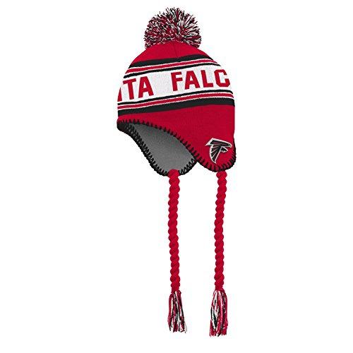 NFL Boys 4-7 Tassel Knit With Pom Hat-Crimson-1 Size, Atlanta Falcons (Atlanta Tassels)