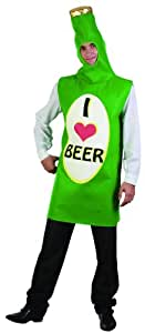 Disfraz botella de cerveza adulto - Única