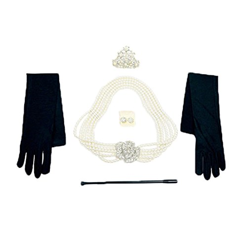 Costumes Audrey Hepburn (Audrey Hepburn Holly Golightly Breakfast at Tiffanys Costume Jewelry and Accessory Set)