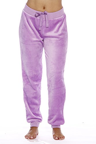 Just Love 6317-Purple Bust-XL Velour Pajama Pants/Joggers for Women