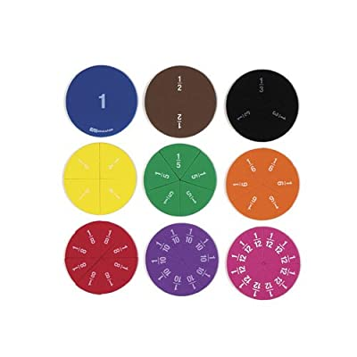 EAI Education QuietShape Foam Fraction Circles: Numbered - Set of 51: Toys & Games